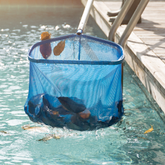 Picture of pool net filled with leaves